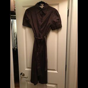 Zara brown short sleeve dress